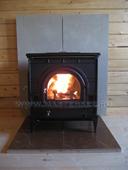 dutchwest печь со вторичным дожегом, заднее подключение к дымоходу