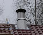 двустенный каминный нерж. дымоход на металлочерепице