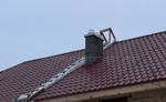 труба на крыше schiedel uni - шидель уни, под отделку