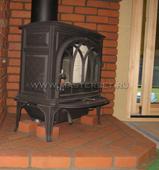 чугунная печь jotul f400 bp черная матовая