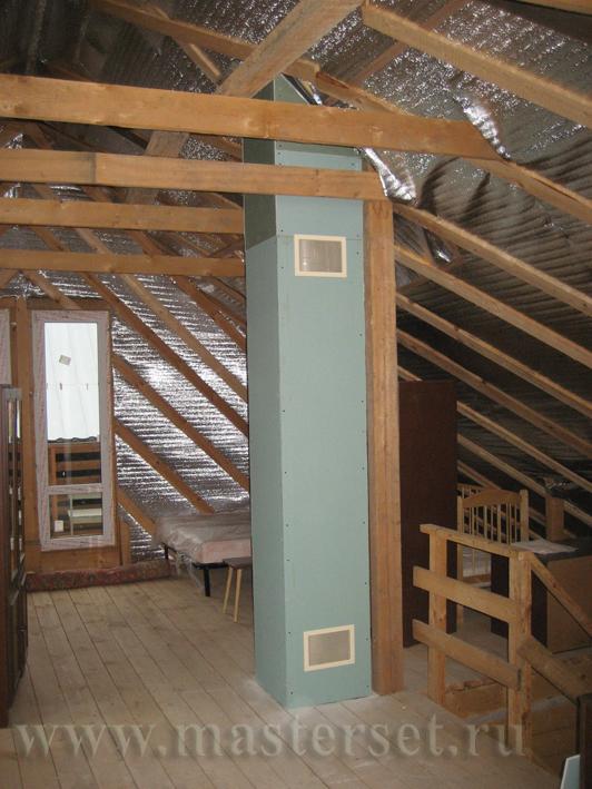 Установка булерьяна в деревянном доме 101