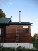 дымоход на крыше, растяжка дымохода, гидроизоляция металлочерепицы