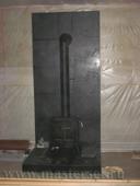 огнезащитная стена - экран за пеь и подиум в облицовке керамогранитом