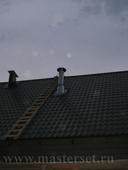 крышная часть дымовой трубы с ппр и гидроизоляцией по металочерепице