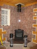 сооружение и отделка углового печного подиума и стенового термозащитного экрана печи intrepid 2