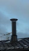 печная труба в цвет крыши