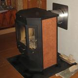 стальная печь с призматической топкой, модель печи бавария