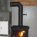 чугунная печка йотул ф100 jotul f100 и труба шидель уни