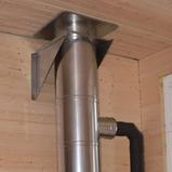 печка jotul подключена в каминный утеплённый дымоход